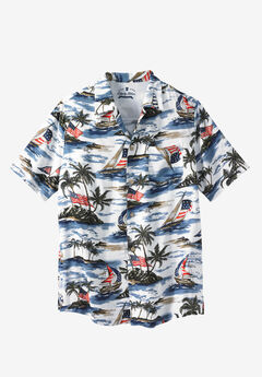 Americana Rayon Shirt by Liberty Blues®, ISLAND FLAG