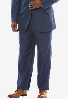 KS Signature Easy Movement® Plain Front Expandable Suit Separate Dress Pants, NEW NAVY PINDOT