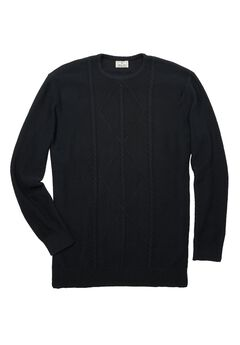 Crewneck Cable Knit Sweater,