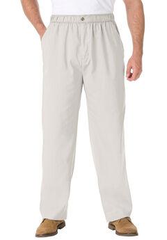 Elastic Waist Pants in Twill or Denim,
