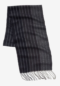 Extra Long Scarf, CHARCOAL STRIPE