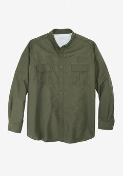 Off-Shore Long-Sleeve Sport Shirt by Boulder Creek®, OLIVE
