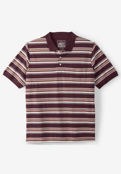 Liberty Blues® Pocket Piqué Polo Shirt, RUSSET STRIPE