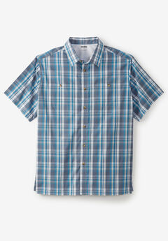 Short-Sleeve Plaid Sport Shirt,