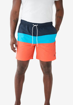 Nautica® Color Block Swim Shorts ,