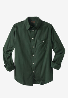 Solid Flannel Shirt by Boulder Creek®,