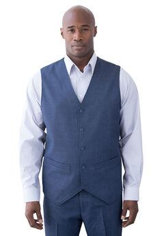 KS Signature Easy Movement® 5-Button Suit Vest, NAVY PINDOT