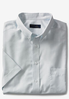 KS SIGNATURE WRINKLE-RESISTANT SHORT-SLEEVE OXFORD DRESS SHIRT,