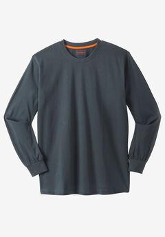 Heavyweight Long-Sleeve Pocketless Crewneck Tee by Boulder Creek®,