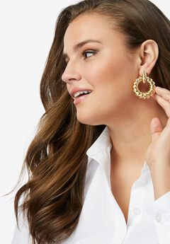 Twisted Hoop Earrings,