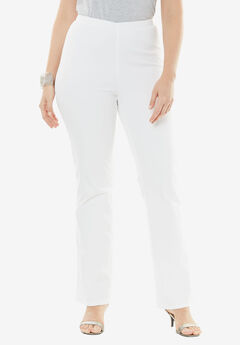 Bootcut Pull-On Stretch Jean by Denim 24/7®, WHITE