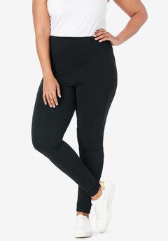 Essential Stretch Legging with Lattice Inset,