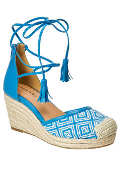 Ryann Espadrilles by Comfortview®, TURQUOISE NATURAL