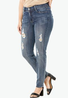 Sequin Skinny Leg Jean by Denim 24/7®,