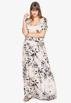 Side-Tie Maxi Dress by Castaluna,