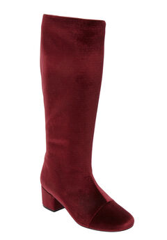 The Wilamina Wide Calf Boot by Comfortview®, RICH BURGUNDY