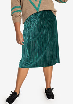 Stretch Velour Skirt Castaluna by La Redoute,