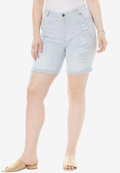 Distressed Shorts by Denim 24/7®,