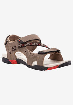 Elon Sandal by Propet®, BROWN RED