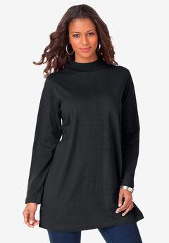 Mockneck Ultimate Tunic, BLACK