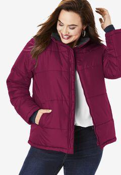 Short Puffer Jacket,