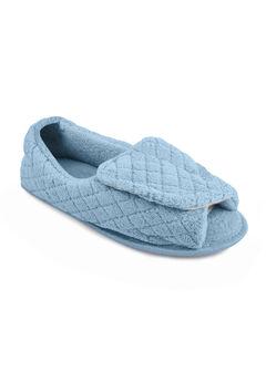 Micro Chenille Adjustable Slipper by Muk Luks®, LIGHT BLUE