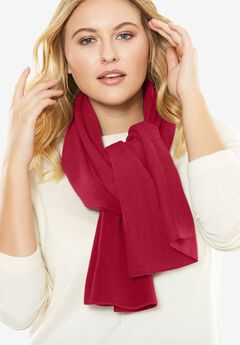 Plush Fleece Scarf, CLASSIC RED