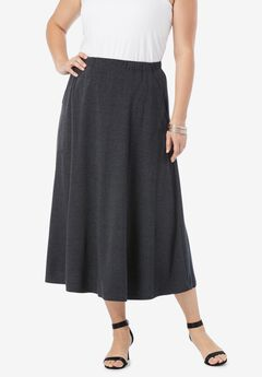 Soft Knit Midi Skirt,