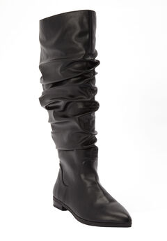 The Addison Wide Calf Boot by Comfortview®, BLACK