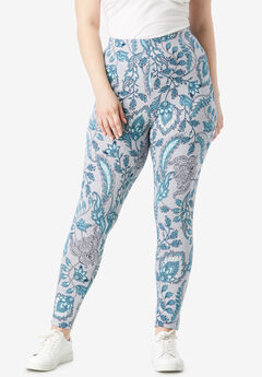 Essential Stretch Legging, HEATHER FOLK PAISLEY