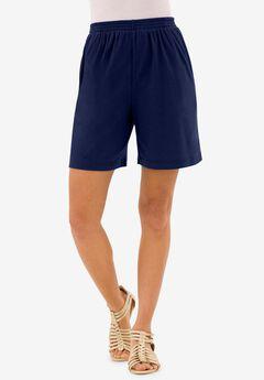 Soft Knit Shorts, NAVY