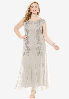 Long Beaded Dress by Pisarro Nights,