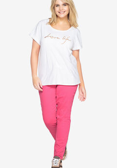 Embroidered Tee by Castaluna,