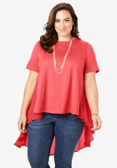 Georgette-Back Drape Tunic,