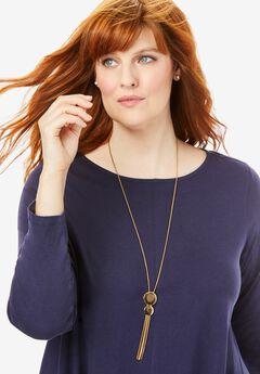 Fringe Pendant Necklace,
