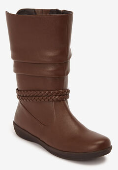The Emberly Wide Calf Boot by Comfortview®, BROWN