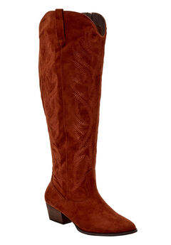The Isabella Wide Calf Boot by Comfortview®, CHESTNUT