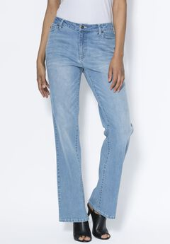 Petite Bootcut Jean with Invisible Stretch® by Denim 24/7®,