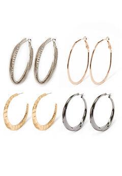 Hoop Earrings Set.,