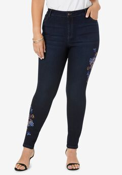Embroidered Skinny Jean with Invisible Stretch® ,