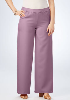 Wide-Leg Bend Over® Pant, PLUM