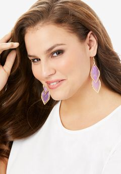 Glam Teardrop Earring,