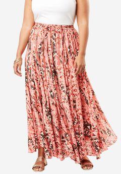 Print Maxi Skirt,