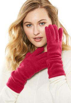 Fleece Gloves, CLASSIC RED