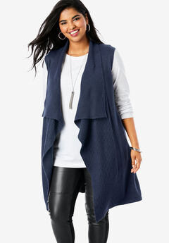 Soft Luxe Sweater Vest, NAVY