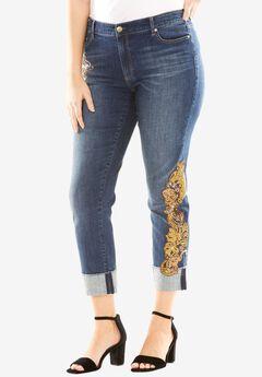 Sequin Cuff Jean by Denim 24/7®,