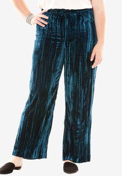 Pleated Velvet Pant,