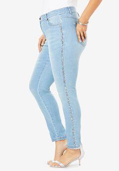 Statement Stripe Skinny Jean by Denim 24/7®,
