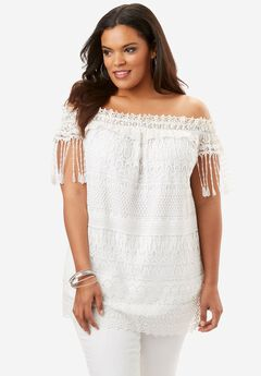 Off-The-Shoulder Lace Top,