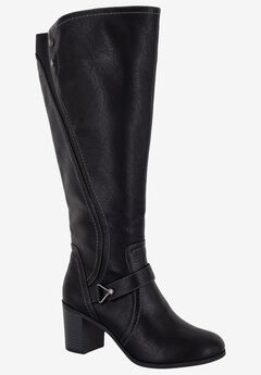 Format Plus Wide Calf Boot by Easy Street, BLACK